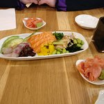 Look at that sashimi!