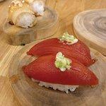 Tomato sushi; beautiful.