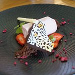 Finger Lime and Strawberry Parfait