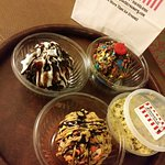 Ice cream cupcakes and edible cookie dough.