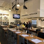 The Stonewall Kitchen Cooking Class venue before starting