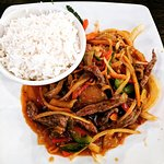 Chargrilled Beef with Chilli Garlic Sauce & Jasmine Rice