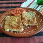 Sandwiches with minced meat.