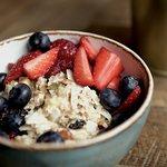 Biercher muesli bowl with fresh berries