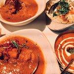 Curry de Cordero. Arroz con Comino y Azafrán y Lentejas