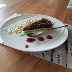 Tarta czekoladowa z syropem miętowym