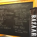 Visitor Center cafe Menu