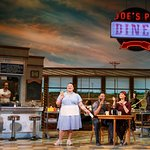 Jessie Mueller, Keala Settle, Kimiko Glenn, and cast members from WAITRESS (Photo: Joan Marcus)