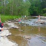 Creeking..Exploring , skipping stones, jumping puddles. Being a kid again.