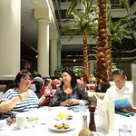 Dining in the Courtyard of Old Ebbits Grill