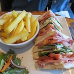 Bacon, Lettuce & Tomato Sandwich with French Fries