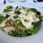 Pear, walnut and Parmesan salad