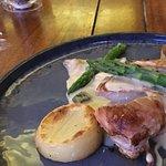 Chicken with fondant potato