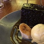 Sticky toffee pudding with banana parfait