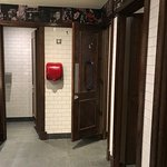 A clean and well kept toilets