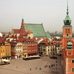 Old Town Warsaw from Taras Widokowy