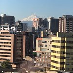 Cotopaxi Volcano, view from Executive Lounge balcony