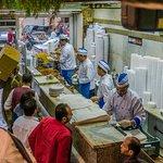 Koshary staff preparing food...