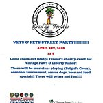 Vets & Pets Street Party!  April 28th 12-6! Plan on being here!