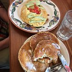 Mexican Chorizo Omelette & Pancakes that come with it.