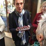Guide, Simon W handing out gorgeous chocolates.