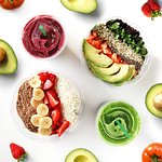 Acai Bowls, Quinoa Salads, Juice and Smoothies! Nutritious and delicious.