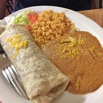 Ground Beef Burrito with Rice and Beans