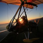 Sunset flight with Denise