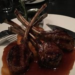 Lamb Chops with pureed parsnips and turnip.