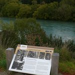 The trail runs along the very scenic Clutha River