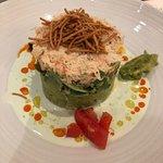 Alaskan crab and avocado salad