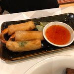 Shrimp spring rolls - larger than they look here
