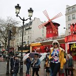 Beautiful moulin rouge specially in night.its near montmatre.