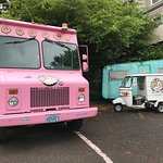 Super fun food truck out by their parking lot.