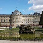 Gartenseite der Residenz in Würzburg