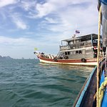 Rendezvous with our dive boat