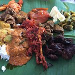 lunch with crab, chicken and mutton