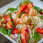 The famous Thai papaya salad