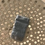 old bra clip left on dryer