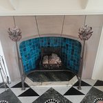 White drawing room fireplace