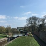 View back up the locks
