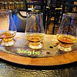 husbands flight of single barrel whiskey