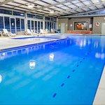 Indoor heated lap pool, spa, toddlers' pool and splash pad.