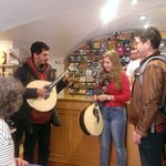 Spontaneous demonstration at the instrument shop of Fado guitars