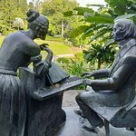 Even Mozart couldn't resist a little music in the gardens..a statue of the famous composer