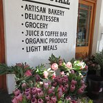 Fantastic selection of proteas for sale outside the deli.