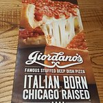 Giordano's home of the deepdish
