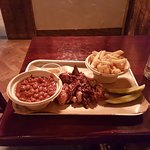 Pulled Pork, Fries and Burnt End Beans
