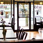 Window Booths, and seating for larger parties offered