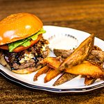 Burger and House Made Wedges